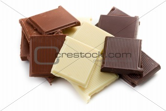 various chocolate bars