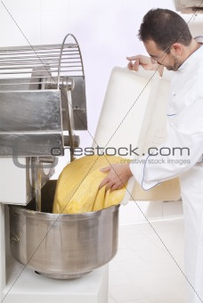 Pastry Chef prepares the ingredients
