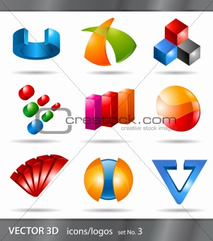 set of icons or logos