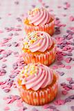 Pink muffins