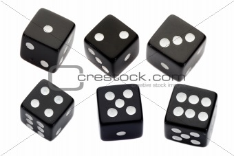 Six black dices