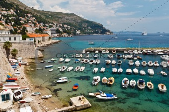 Panorama of Dubrovnik Marina, Croatia