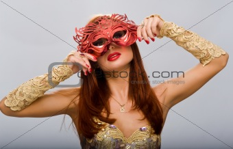 beautiful girl with a mask