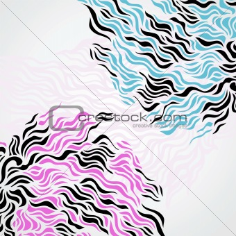 Abstract hand drawn flow background.