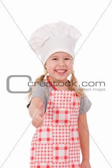 girl in chef's hat