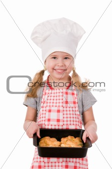 girl in chef&#39;s hat