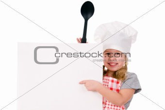 girl in chef's hat