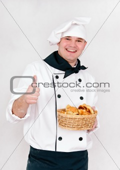 chef with buns