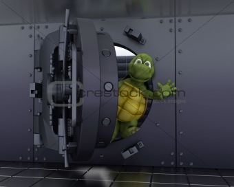 tortoise in a bank vault