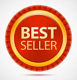 Best seller, red label, vector illustration eps10