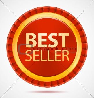 Best seller, red label, vector illustration eps10