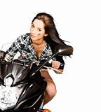 Racing Biker Woman
