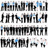 60 Business People Silhouettes Set