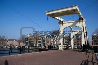 Magere Brug (skinny bridge) in Amsterdam