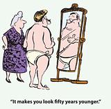 Years younger