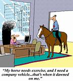 Exercise horse