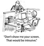 Intrusive screen