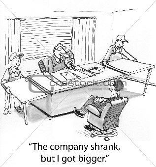 Company shrank