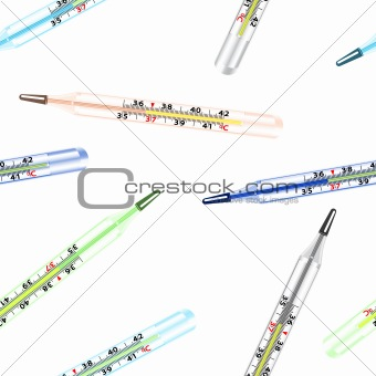 Seamless wallpaper the medical glass mercury thermometer