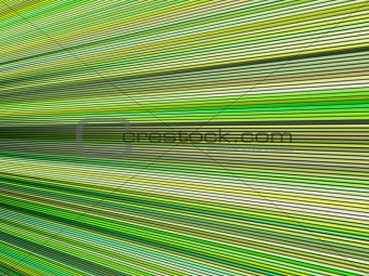 3d green color abstract striped backdrop render