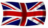 Flag of Great Britain in Wave