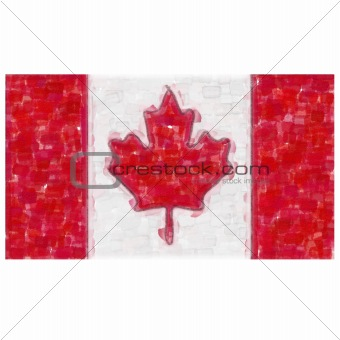 flag of canada water color