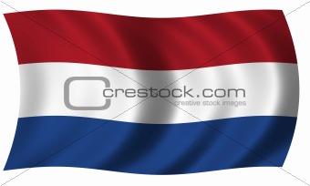 flag of Netherlands in wave