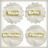 vector crumpled paper icons