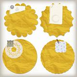 vector scrapbook design elements, crumpled paper napkins