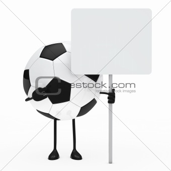 football figure hold billboard
