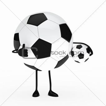 football figure hold ball