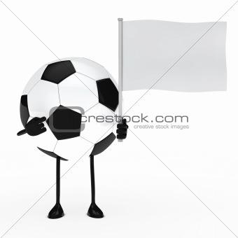 football figure hold flag