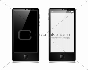 touchscreen smartphone, vector model