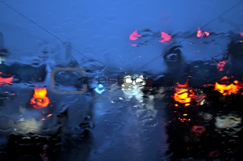 Rainy Windshield.