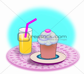 Cupcake and Soda