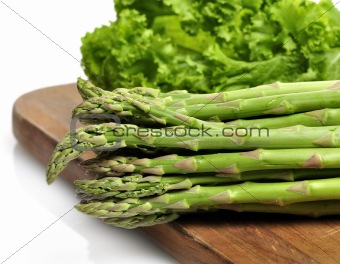 Asparagus And Salad Leaves