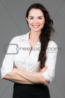 Portrait of happy business woman