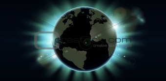 World globe eclipse background