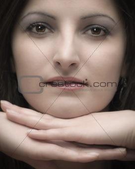 Beautiful brunete woman