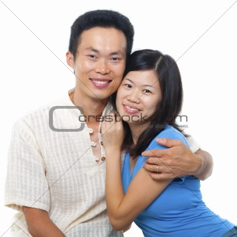 Loving Asian Couple