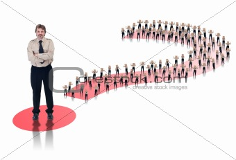 Business leader concept