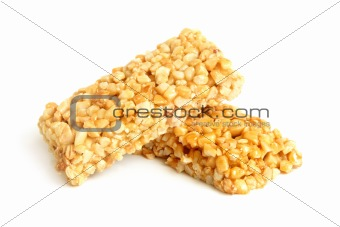 Honey bars with peanuts