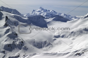 Caucasus Mountains. View from mount Elbrus.