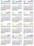 2013 calendar with zodiac signs