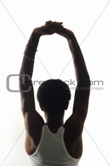 Back portrait of young african american man