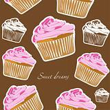 yummy cupcake seamless