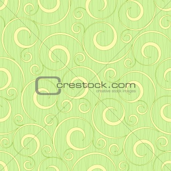 abstract light green flourish floral swirl seamless background pattern