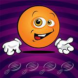 Funny smiling ping pong ball