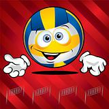 Funny smiling volley ball