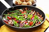 Roasted mushrooms with vegetable